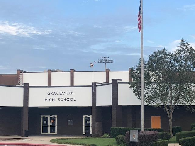 Picture of front entrance of school