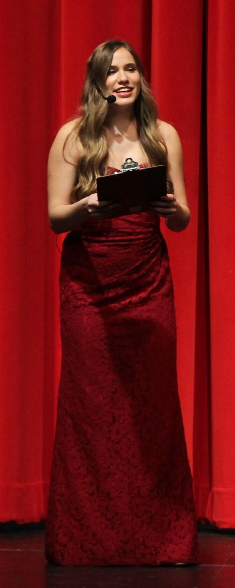 Christina Fuller hosting Talent Show