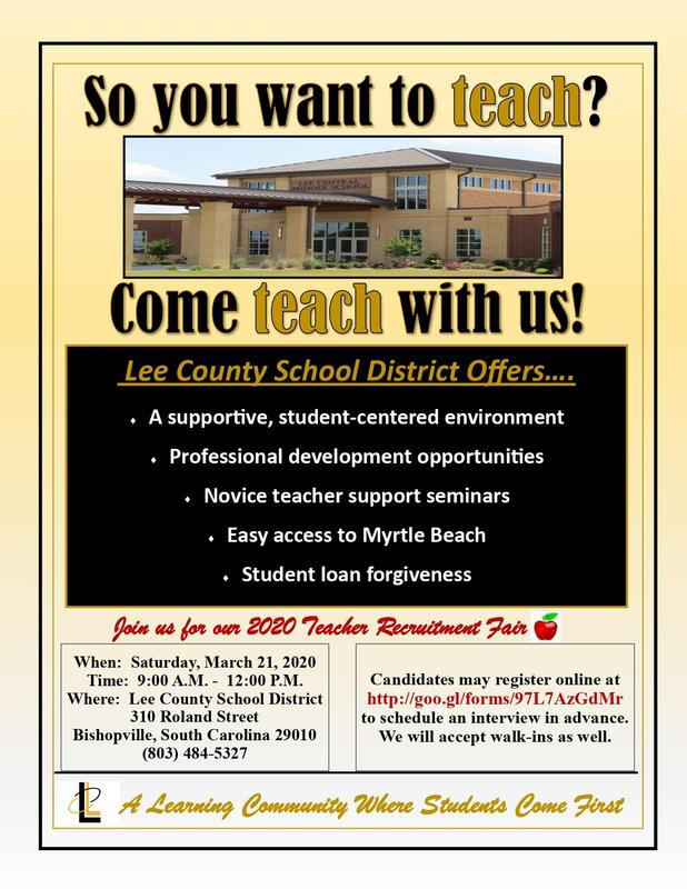 flyer Teacher Recruitment