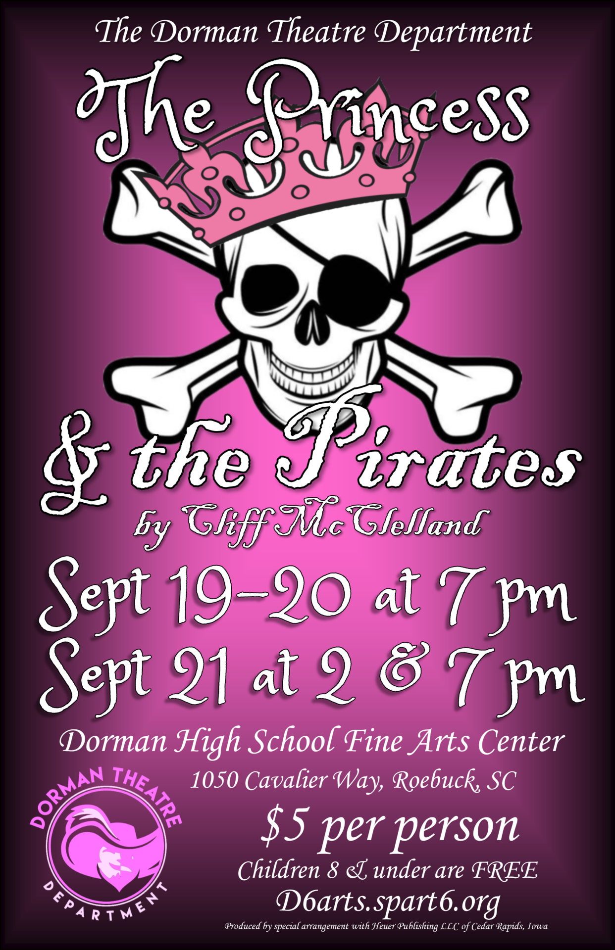 Princess Pirates pub poster