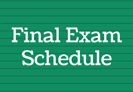Exam Schedule and Exemption Requirements Thumbnail Image