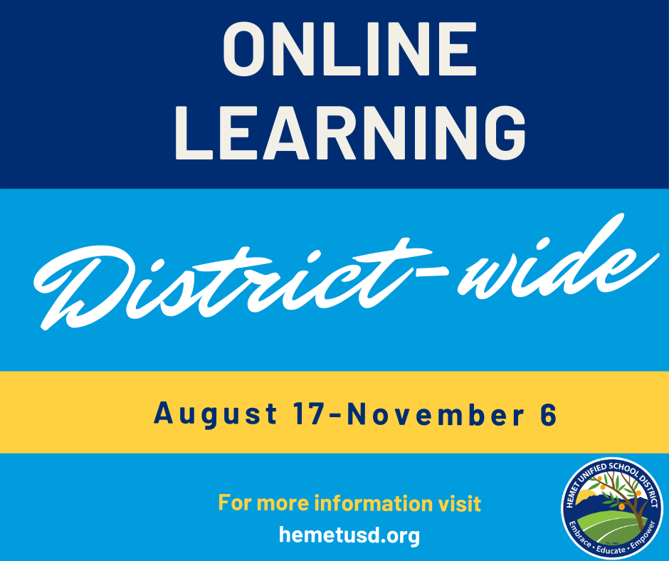 Online learning from August 17 through November 6
