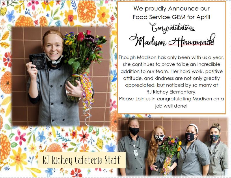 Madison Hammack, Food Service Department Thumbnail Image