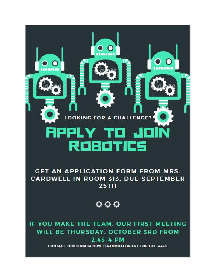 Robotics Infor Flyer