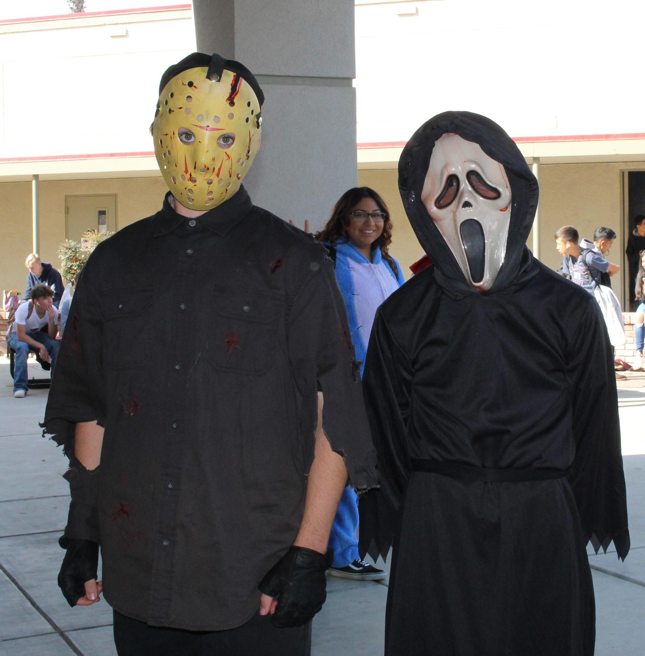 Thomas McGarvey as Jason Voorhees, Arely Jimenez, Nick Labour as Ghostface