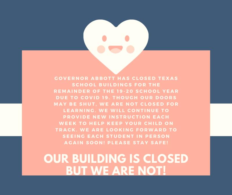 School Building Closure Through Remainder of 19-20 School Year Featured Photo