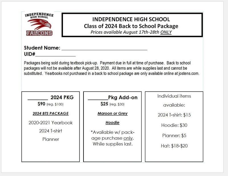 Class of 2024 - Back to School Packages Thumbnail Image