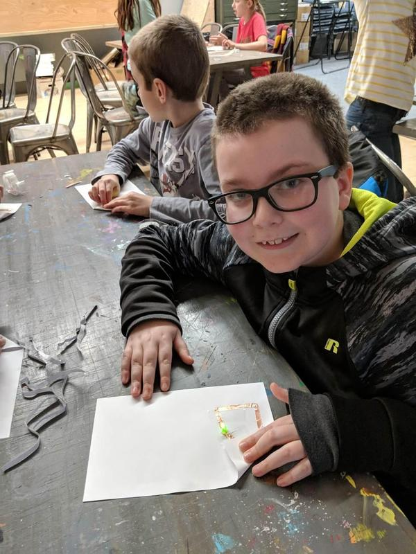 Makerspace and Pacheco students