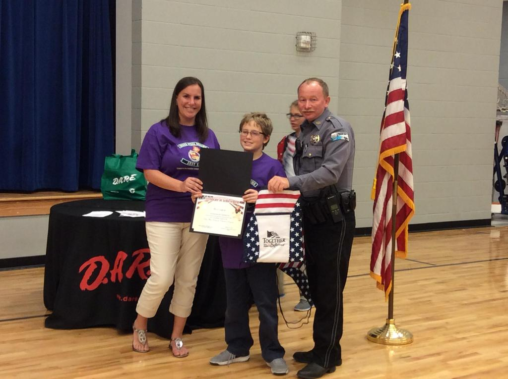 J.B.H.S. is proud to participate in the  D.A.R.E. program!