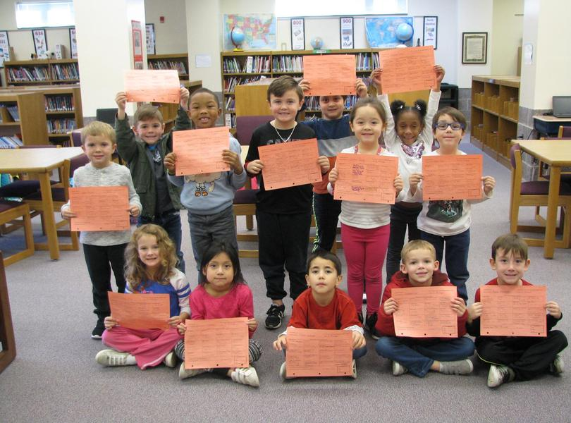 Proud Kindergarten Readers- they have been working hard on their reading- GREAT JOB