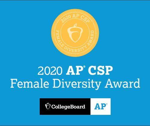 College Board awards Rosary the AP Computer Science Female Diversity Award Featured Photo