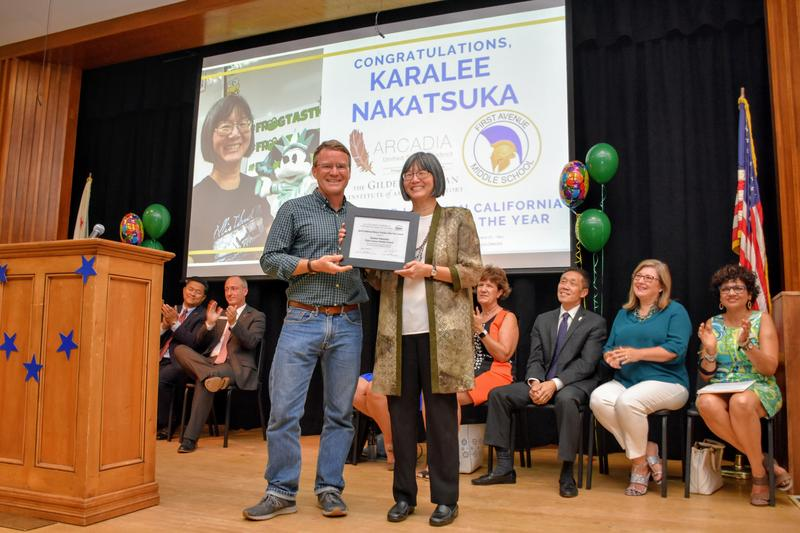 First Ave History Teacher Karalee Nakatsuka receives award