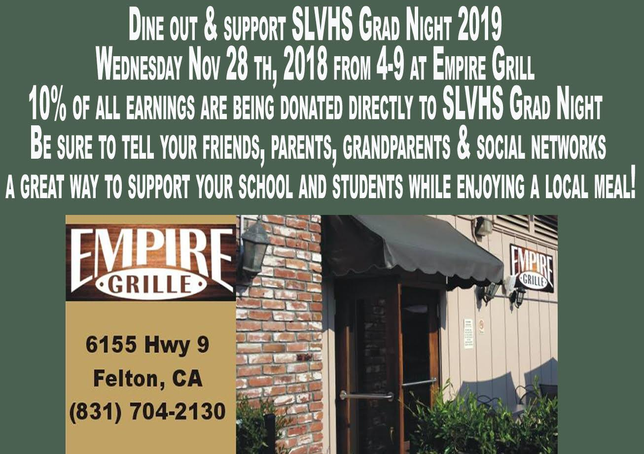 Dine Out & Support Grad Night