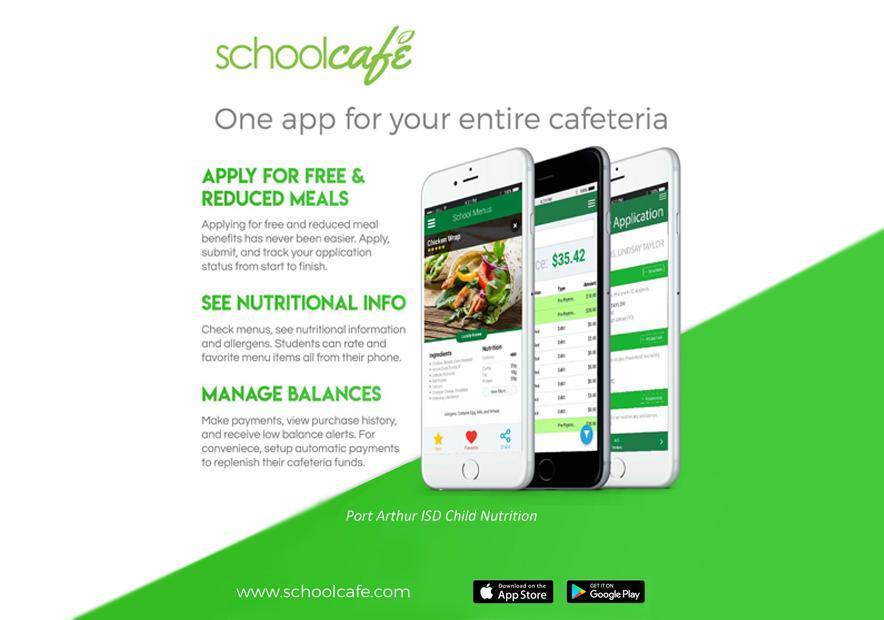 school cafe - menu app