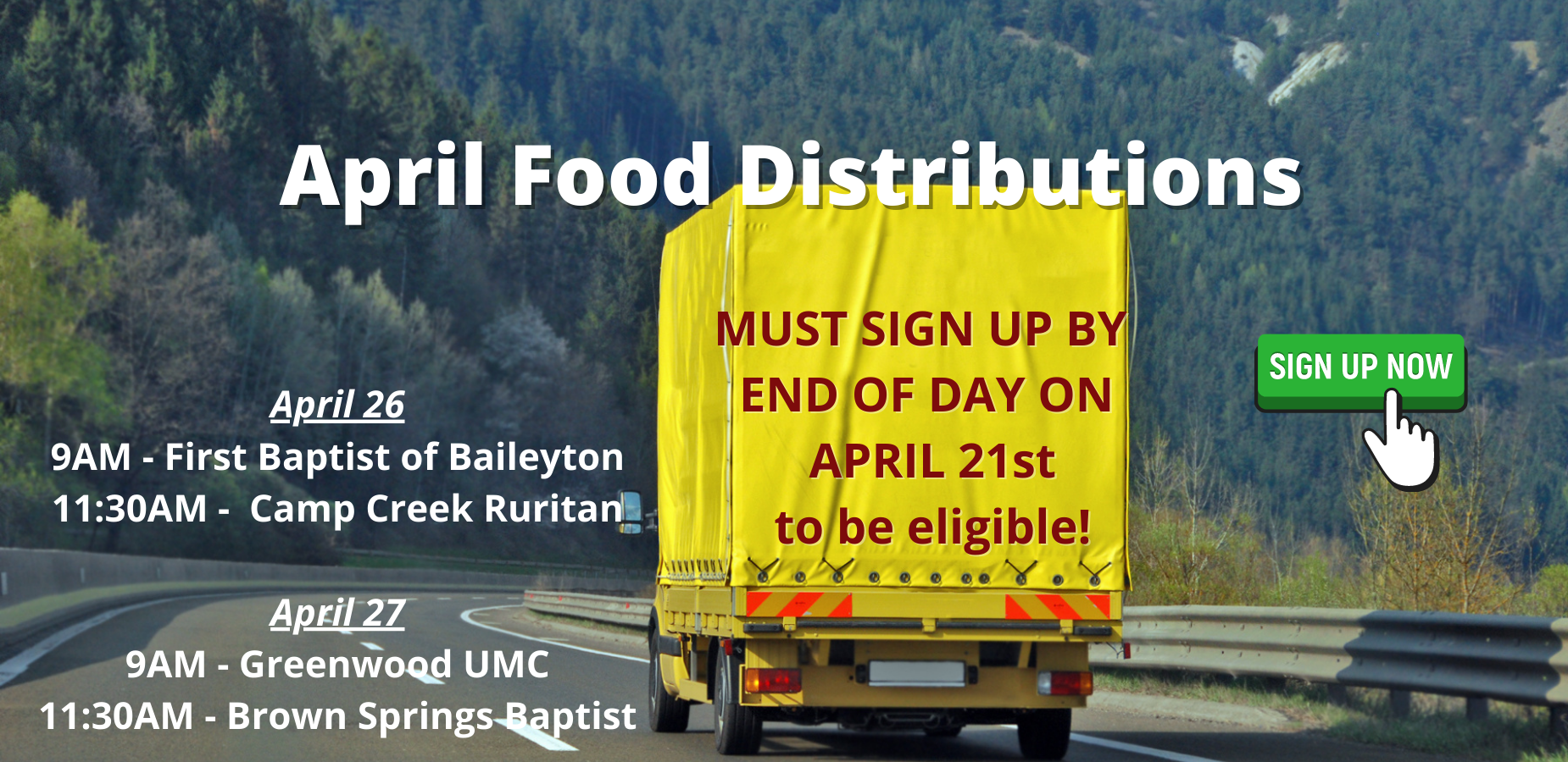 April Food Distribution Registration