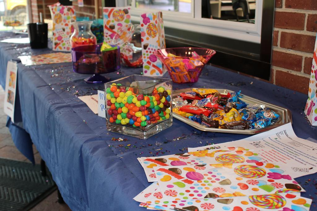 Candy bar set up for staff for DSP Week