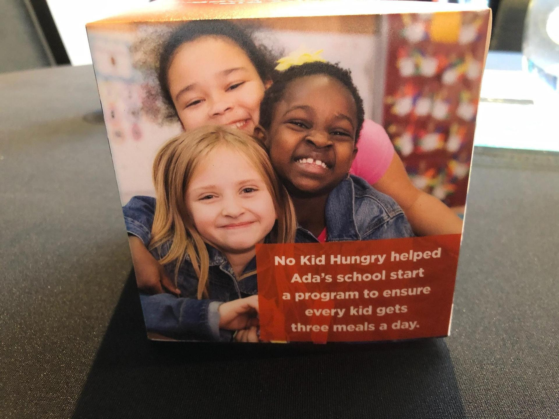 Rebecca and other girls No Kid Hungry Ad