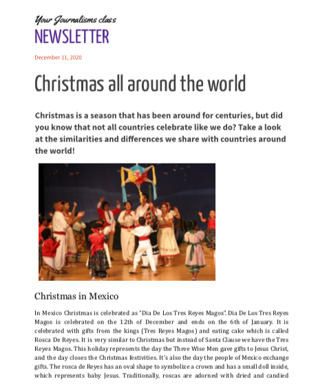 Weekly Newsletter 12-9