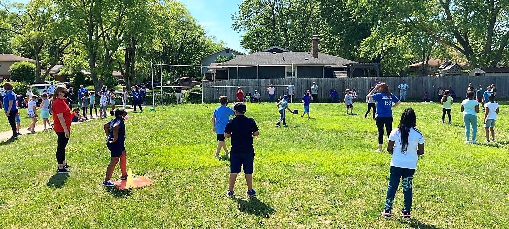 Churchill School end-of-year kickball tournament