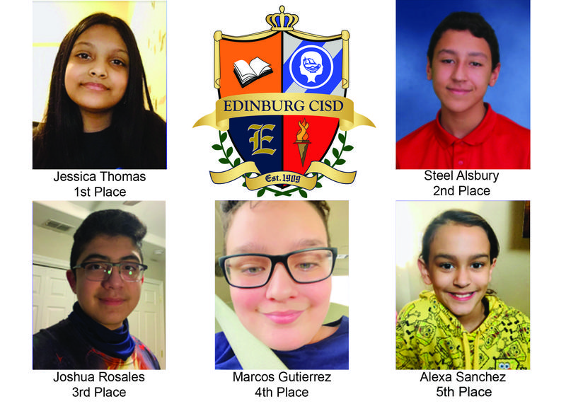 Five Edinburg CISD students advance to Regional Spelling Bee.