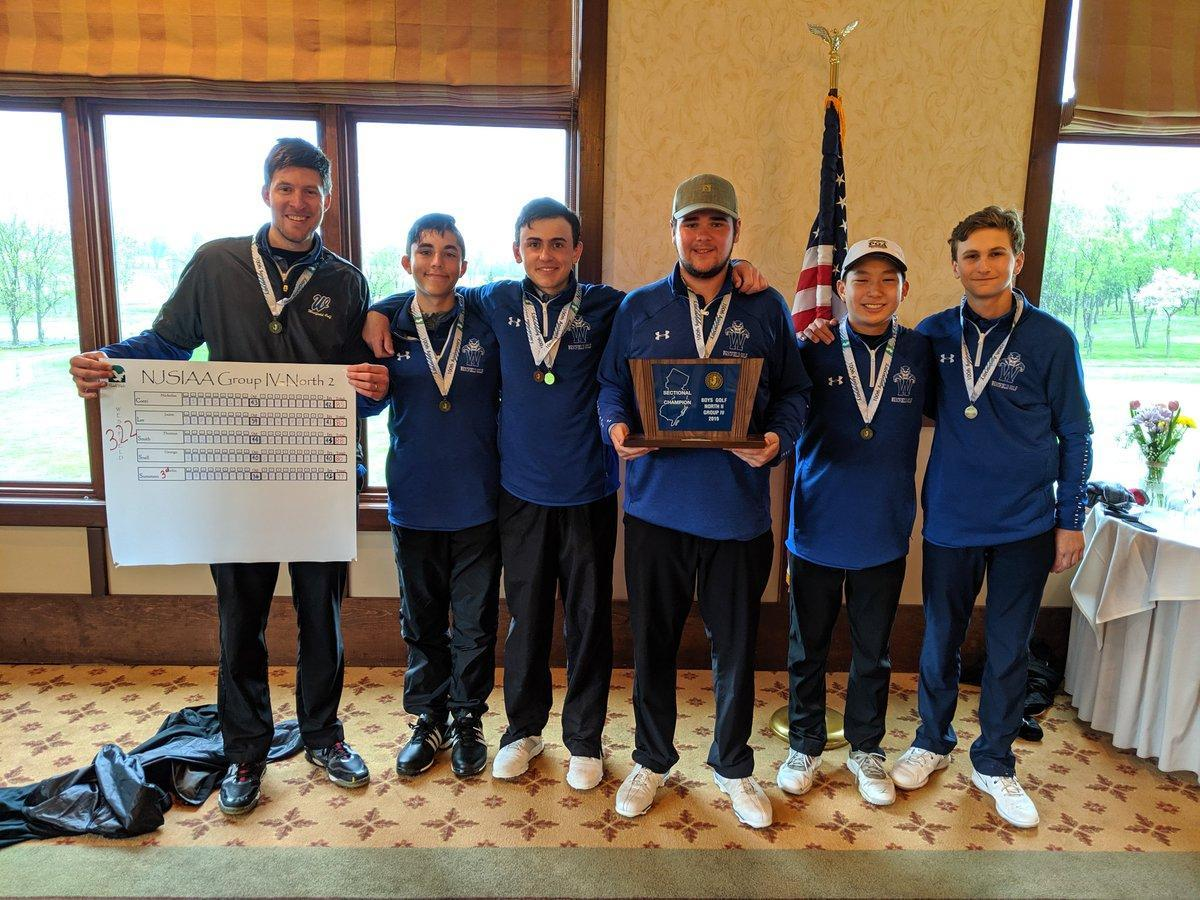 Congratulations to the Boys golf team for taking 1st Place Team at the NJSIAA North 2 Group 4 Sectional Tournament