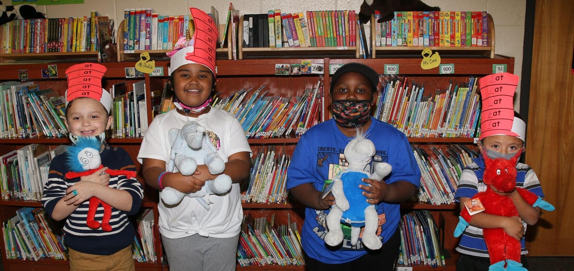 students honor Dr. Seuss's birthday