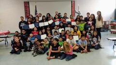 Students Celebrating their Parents' Commitment to Learning