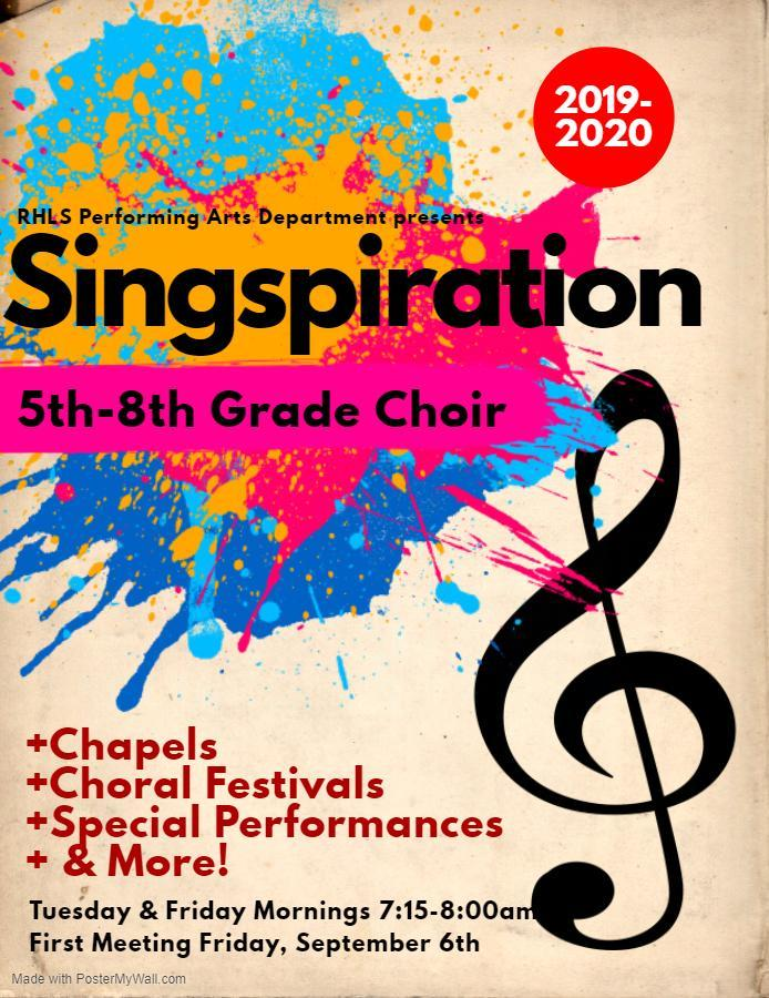 Singspiration Flyer