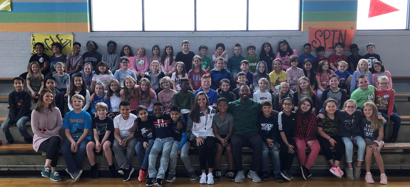 Junior High coaches visit fourth and fifth graders about expectations