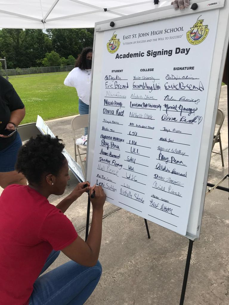 East St. John High Academic Signing Day
