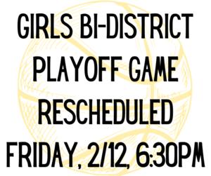 Game rescheduled