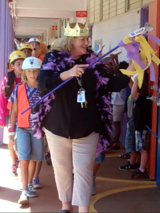 Principal Omalza and SBA Parade