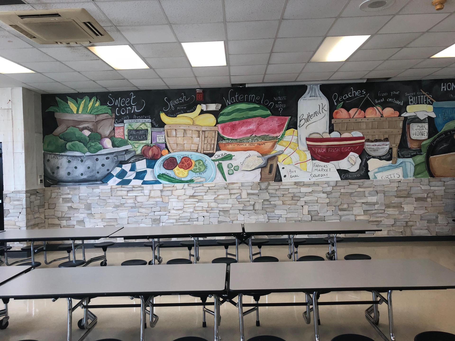 cafeteria mural