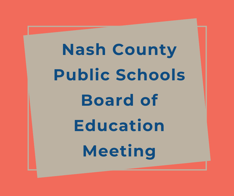 Nash Board of Education Meeting