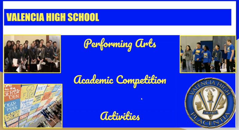 Please use this link to navigate to the Activities Page and watch the new video about Valencia High School's Activities. Thumbnail Image