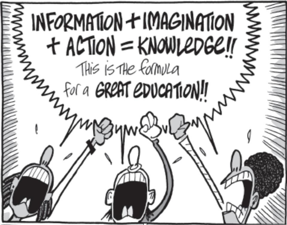 Information + Imagination + Action = Knowledge!
