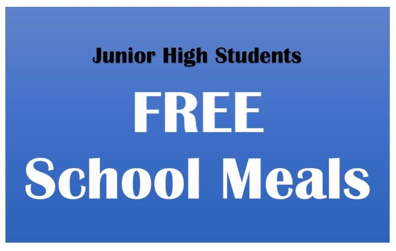 FREE Breakfast and Lunch for Junior High Students Thumbnail Image