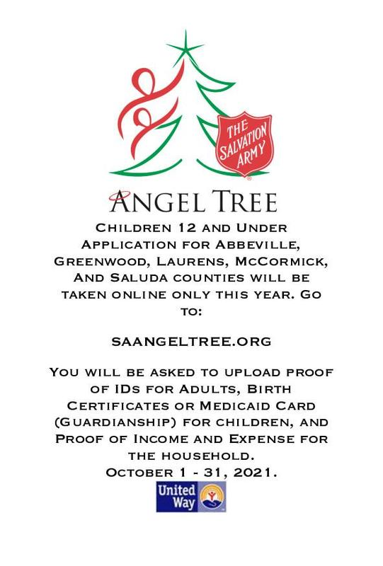 Angel Tree application information