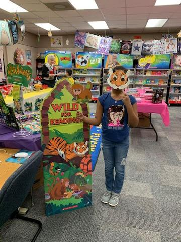Alana Brigham at book fair