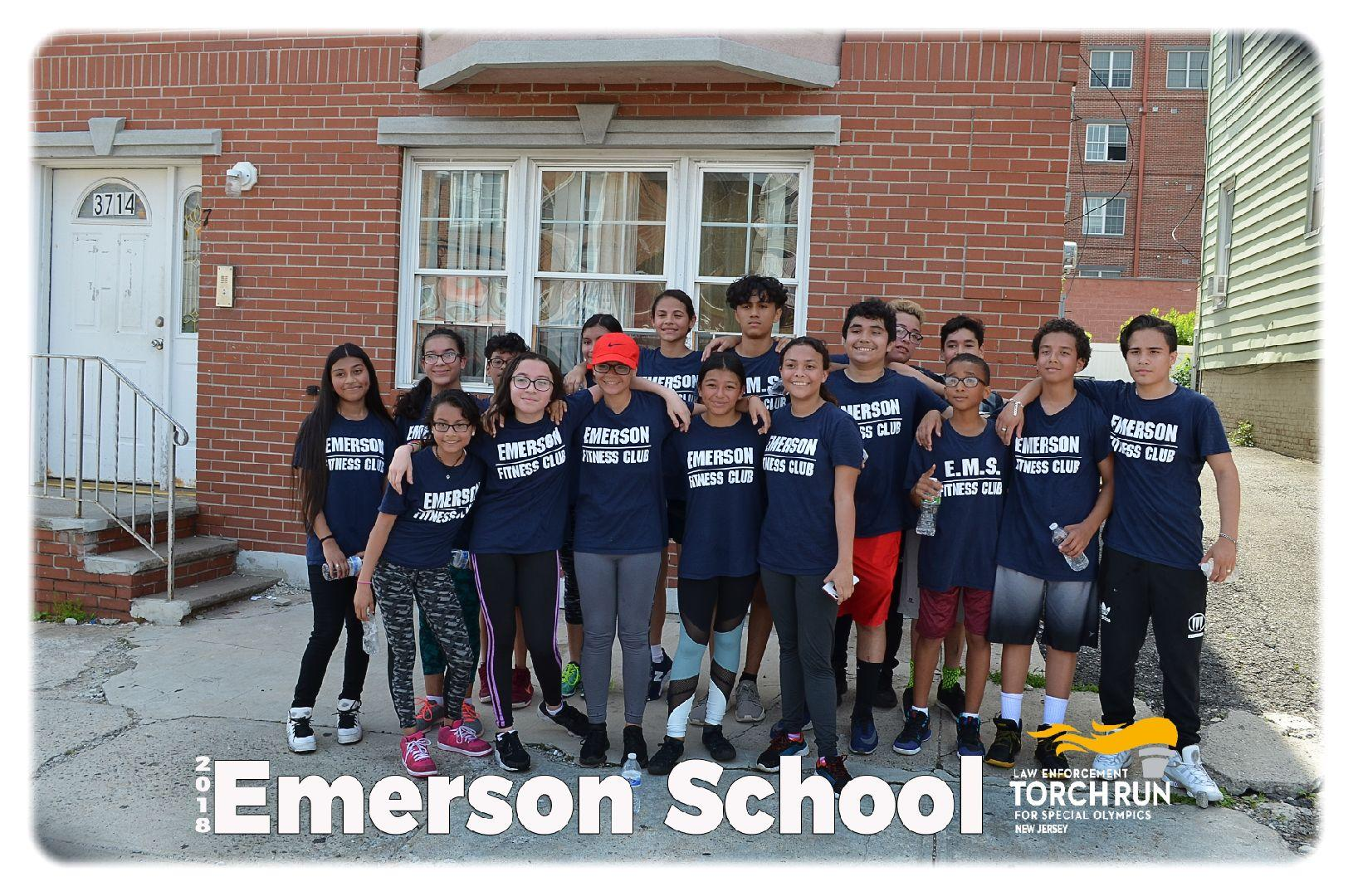 Emerson Students that ran torch run