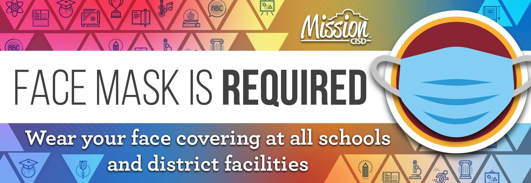 graphic saying masks are required