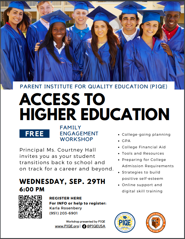 PIQE- Access to higher education
