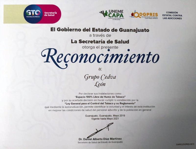 Grupo CEDVAPlantel Leónespacio 100 % libre de humo de tabaco Featured Photo