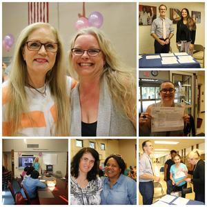 Photo collage from the Women's Health and Wellness Event.