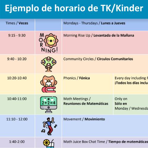 ejemplo de horario
