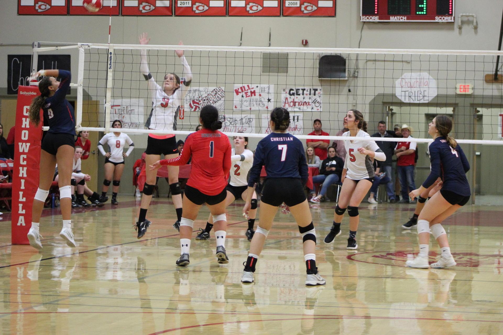 Girls playing against Vacaville Christian