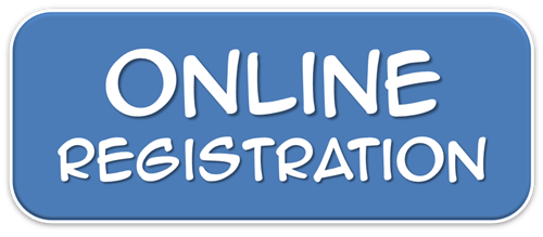 Words Online Registration with blue background