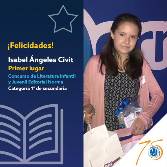 Alumna del CMM gana 1° lugar en el Concurso de Literatura Infantil y Juvenil Featured Photo