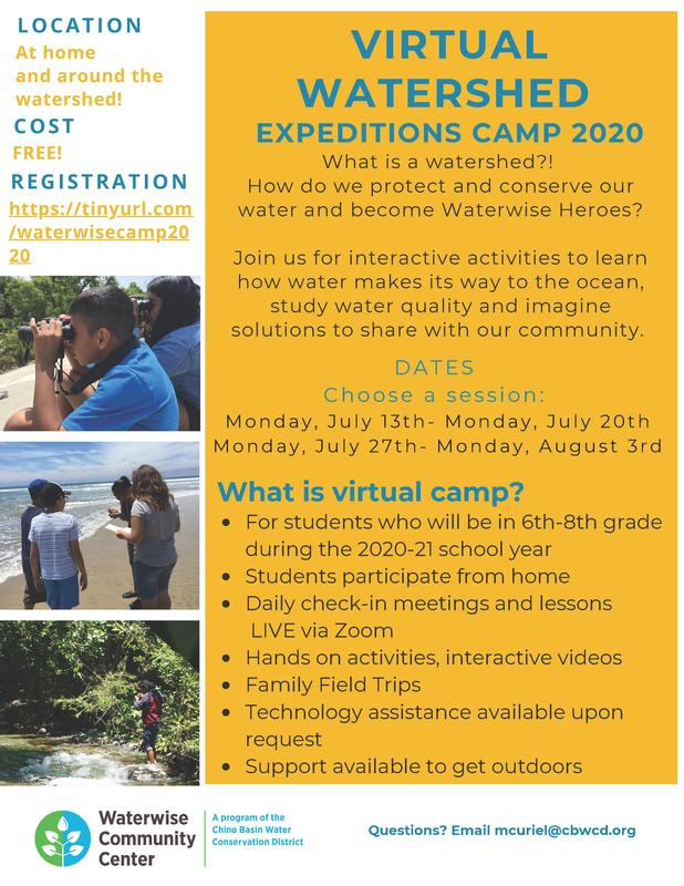 Virtual Watershed Expeditions Camp 2020