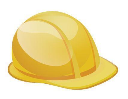 Yellow construction hard hat.